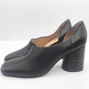 NEW Anthropologie silent D black leather heels